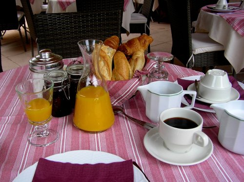 Breakfast in Avignon.