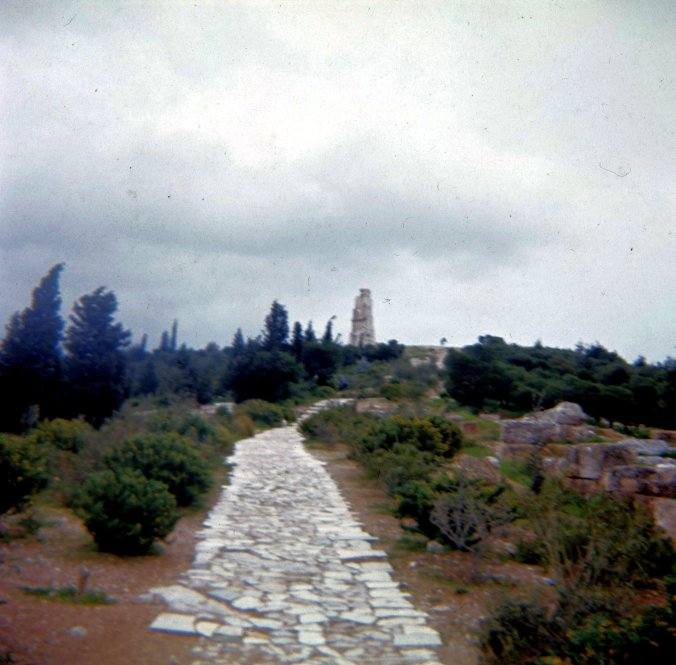 Long walk to the Acropolis.