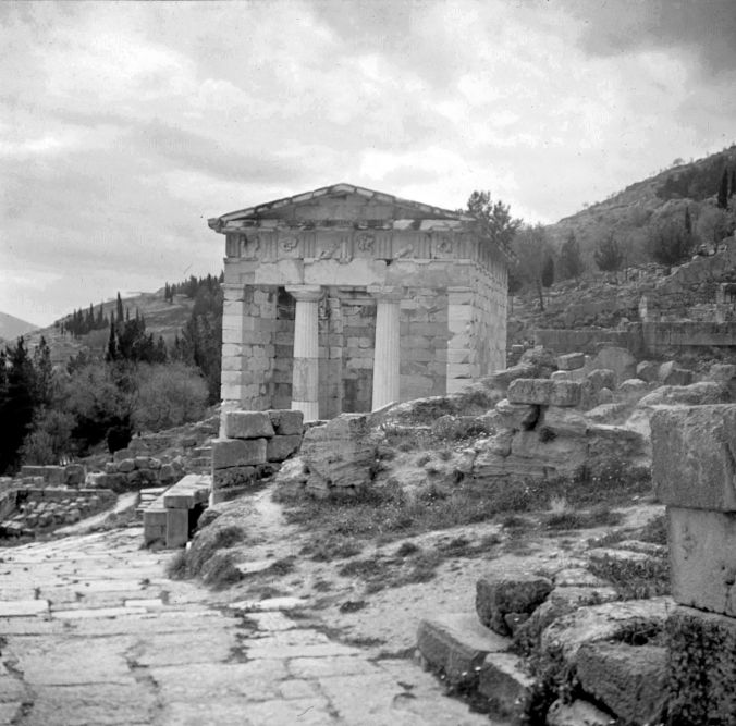The Treasury of Athens at Delphi.