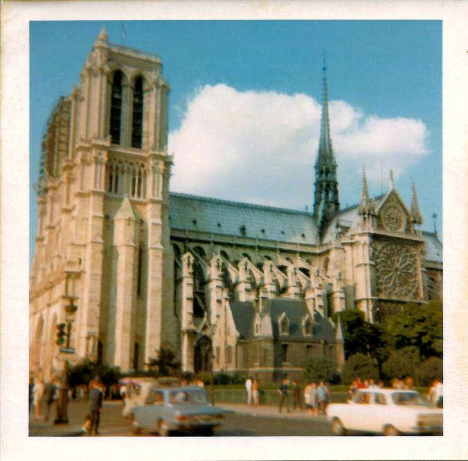 Cathédrale Notre-Dame de Paris. 13th July 1969.