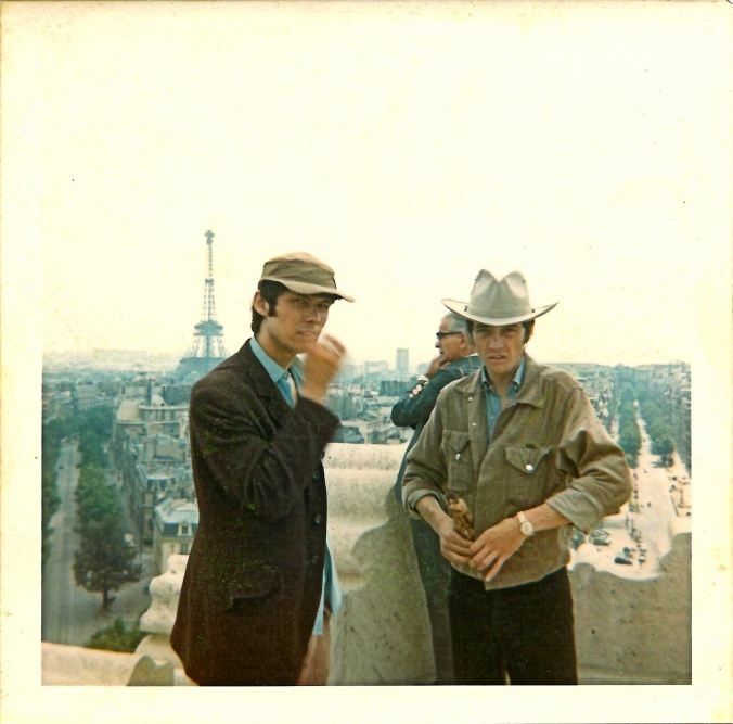 On L'Arc de Triomphe with Pete. 13th July 1969.
