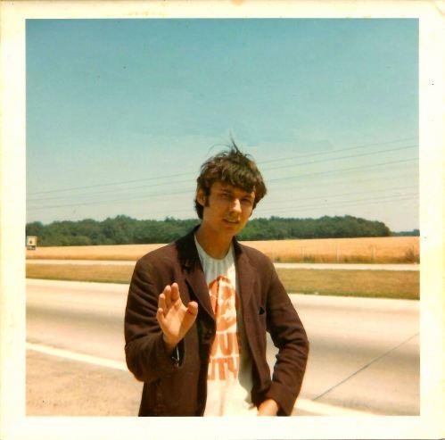 On the N7 near Sainte-Radegonde, Picardie, France. 15th July 1969.
