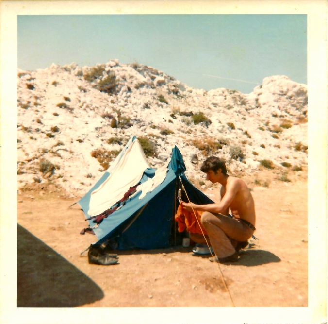 Clifftop campsite, Marseille. 19th July 1969.