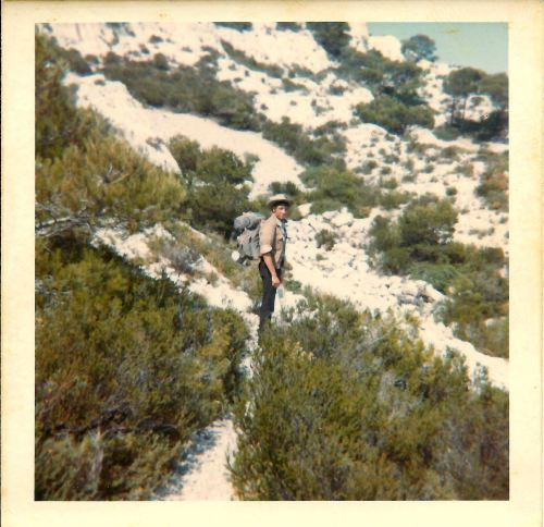 Pete in the hills of Marseille. 19th July 1969.