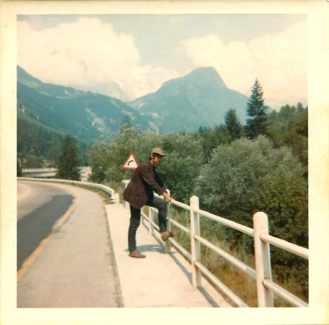 Mont Blanc from the Italian side of the Tunnel. 23rd July 1969.