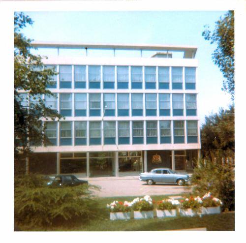 The British Embassy in Bern 24th July 1969. (Thunstrasse 50, 3005 Berne, Switzerland.) 24th July 1969.