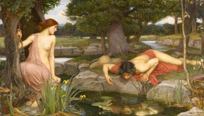 Echo And Narcissus by John William Waterhouse (1903). Born January/April 1849; died 10 February 1917.