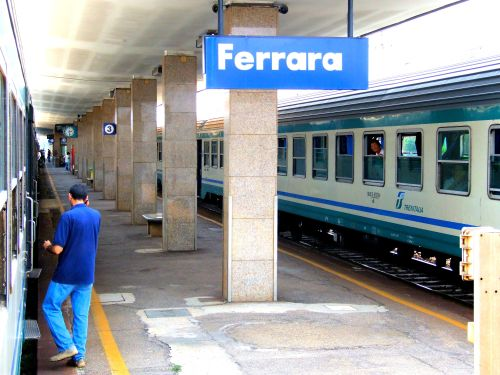 "Singing The Blues ""I'm on platform 3. No, I don't know which station."" ""I think you'll find it's Stazione di Ferrara, Piazzale della Stazione, 28, 44122 Ferrara FE, Italy."" ""Grazie."" https://witness.theguardian.com/assignment/54f71d23e4b041160571f72b/1513309"