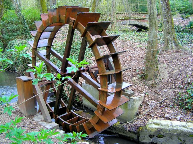 Leonardo da Vinci's Waterwheel This waterwheel was constructed from the drawings and descriptions contained in Leonard da Vinci's notebooks and stands in the grounds of the Château du Clos Lucé, 2 Rue du Clos Lucé, 37400 Amboise, France. The Château was built in 1471 and Leonardo Da Vinci was invited to live here in 1516 by King Francis I. It was Leonard da Vinci's home until his death in 1519 at the age of 67. https://witness.theguardian.com/assignment/5630c6f5e4b07e373ce97a23/1793529