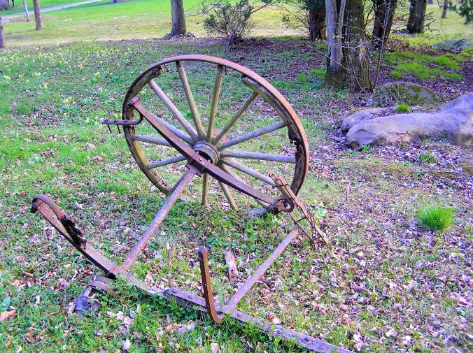 Abandoned Carriage Wheel, Axle And Suspension I saw this broken, discarded wheel lying in open woodland behind a hotel in which I spent a night shortly after visiting the Château de Fontainebleau, 77300 Fontainebleau, France. It was clearly a heritage piece, well preserved and respected by visitors. https://witness.theguardian.com/assignment/5630c6f5e4b07e373ce97a23/1795208